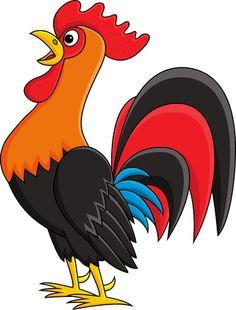 Art Drawings For Kids, Cartoon Drawings, Easy Drawings, Cartoon Art, Cartoon Images, Animal Crafts For Kids, Art For Kids, Rooster Illustration, Cartoon Rooster