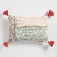 One of my favorite discoveries at WorldMarket.com: Stonewashed Tassel Lumbar Pillow