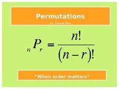 This zip file includes a 19 slide PowerPoint and a student math interactive notebook page to fill out while viewing the PowerPoint.  It gives an explanation on how to solve permutation problems, gives students opportunities to solve problems involving permutations, and has several examples for students to try to solve using the permutation equation.