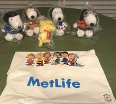 11ada27b312 Lot of 5 New+Sealed Metlife Peanuts Plush Snoopy Pilot Red  Baron+MVET+Woodstock
