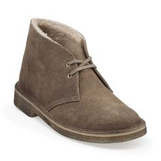 Desert Snug-Women in Taupe Distressed Suede - Womens Boots from Clarks