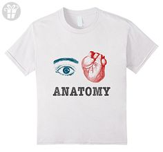 Kids I Love Anatomy - anatomically correct heart funny tshirt 6 White - Funny shirts (*Amazon Partner-Link)