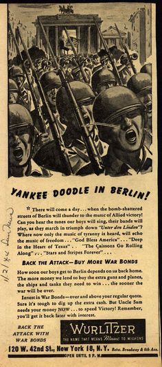 Yankee Doodle In Berlin! . From Duke Digital Collections. Collection: Ad*Access