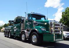 Charlebois Towing - Milton VT, Freightliner Twin Steer w/ Century 75 ton rotator Heavy Duty Trucks, Big Rig Trucks, Heavy Truck, Semi Trucks, Cool Trucks, Train Truck, Jeep Truck, Car Hauler Trailer, Towing And Recovery