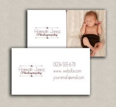 Business Card Template for photographers by PixelsandPine on Etsy
