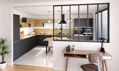 Kitchens with a canopy: ideas to compose yours! By YOU Cuisi ...  #canopy #compose #cuisi #ideas #kitchens #yours #kitchenstyles Kitchen Room Design, Kitchen Decor, Kitchen Interior, Interior Design Living Room, Interior Cladding, Open Concept Kitchen, Küchen Design, Design Ideas, Home Kitchens