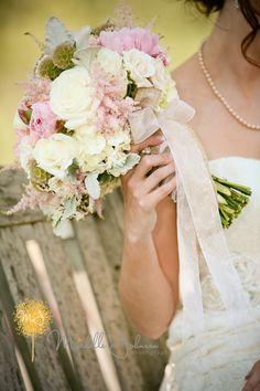 Pink and White Wedding Bouquet strawberryfarmsweddingpictures