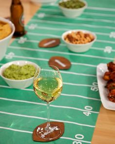Football Field Table Runner with Football Coasters