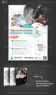 Buy Magic Circle Multipurpose Corporate Flyer Template by katzeline on GraphicRiver. Flyer Layout, Brochure Layout, Brochure Design, Design Corporativo, Food Graphic Design, Layout Design, Corporate Flyer, Corporate Design, Flyer Poster
