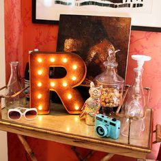 """12"""" Letter R Marquee Light from The Rusty Marquee"""