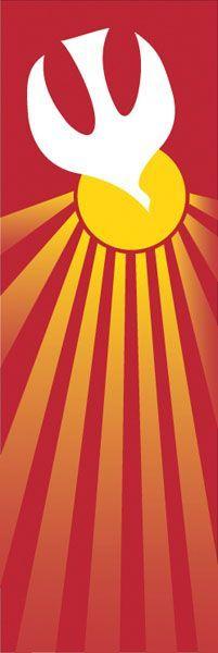 Green Pentecost Banner Patterns | Banner #7115: Holy Spirit