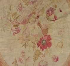 """19x22 SIGNED """"CD"""" ANTIQUE FRENCH AUBUSSON RUG CARPET   eBay Aubusson Rugs, Tapestry Fabric, Home Upgrades, Muted Colors, Small Flowers, Tapestries, Flourish, French Antiques, Rugs On Carpet"""