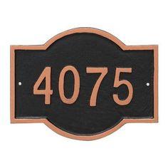 Montague Metal Products Canterbury Rectangle Petite Address Sign Plaque Finish: Antique Copper/Copper