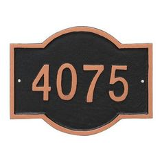 Montague Metal Products Canterbury Rectangle Petite Address Sign Plaque Finish: Aged Bronze/Gold