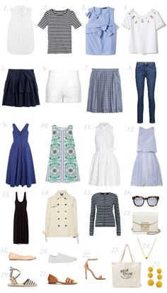 15 ideas holiday outfits summer travel capsule wardrobe for Capsule Wardrobe, Travel Wardrobe, Wardrobe Ideas, Travel Photography Tumblr, Photography Beach, Packing For Europe, Packing Tips For Travel, Travel Essentials, Travel Europe