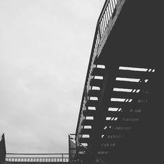 #stairway #grey #clouds #day #one #step #sky