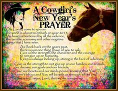 A Cowgirl' New Year's Prayer