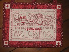 Primitive Embroidery Patterns, Welcome, Crafty, Quilts, Stitch, Frame, Creative Ideas, Sisters, Home