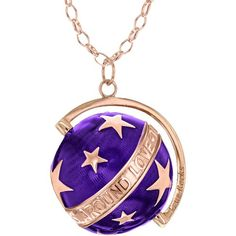 Large Deep Purple Enamel and Rose Gold Star Globe Pendant by True... ($510) ❤ liked on Polyvore featuring jewelry, pendants, necklaces, accessories, enamel jewelry, star jewelry, pink gold jewelry, enamel pendant and rose gold jewelry