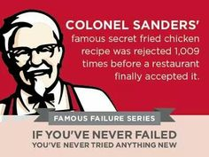"""Our Plexus Slim graphic album is packed with all the graphics you need to crush the competition. Use these """"Famous Failures"""" motivational graphics to grow your business Capturing Kids Hearts, Famous Failures, Colonel Sanders, Thrive Life, Motivational Quotes, Inspirational Quotes, Tabula Rasa, Message Quotes, Success And Failure"""