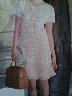 Handmade crochet top tunic dress women crochet by LanaGatto