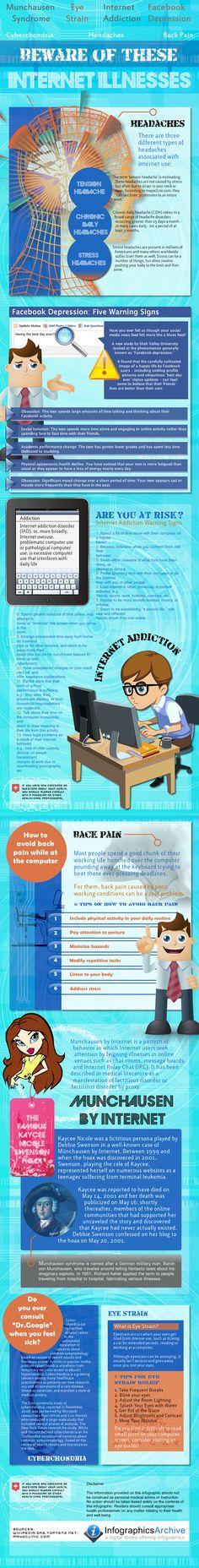 Beware of these Internet Related Illnesses. Social Media --> goo.gl/Rgu7t