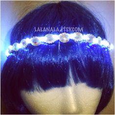 LED Bling Halo Crown for Festivals, EDC, EDM Raves or Concerts on Etsy, $40.00