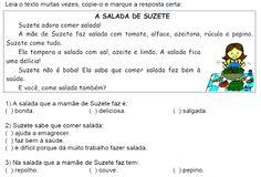 ATIVIDADES PARA EDUCADORES: Texto A SALADA DE SUZETE