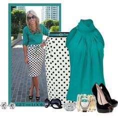 Polka Dot Skirt by hope-houston on Polyvore featuring Michael Kors, KG Kurt Geiger, Juicy Couture, Dickins & Jones and Jane Norman