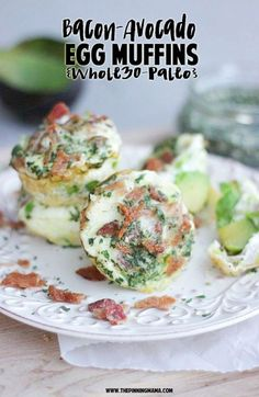 egg muffins Bacon Avocado Ranch Egg Muffin Recipe {Paleo, Whole 30 Compliant} The Pinning Mama Avocado Ranch, Bacon Avocado, Avocado Recipes, Healthy Recipes, Paleo Ideas, Bacon Dip, Raw Recipes, Ripe Avocado, Milk Recipes