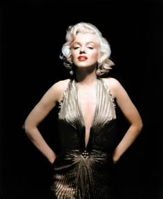 "In this undated publicity photo courtesy Running Press, Marilyn Monroe is shown wearing a knife-pleated gold lamé gown made from ""one complete circle of fabric."" She wore this dress in ""Gentlemen Prefer Blondes."" A half-century later, 50s bombshell Marilyn Monroe is a new generation's pop-culture phenomenon. Monroe died August 5, 1962. (AP Photo/Courtesy Running Press)"