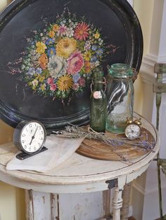 Tole tray and other vintage items from Chateau Chic.