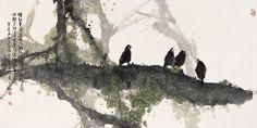 Modern Chinese painting by Qin Tian Zhu (秦天柱)