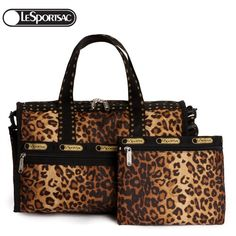 LeSportsac C7384 Leopard Print Handbag With Cosmetic Bag - New Arrivals- - TopBuy.com.au