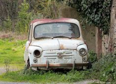 Fiat 600 Fiat Cars, Fiat 600, Fiat Abarth, Rusty Cars, Abandoned Cars, Citroen Ds, Barn Finds, Cars And Motorcycles, Trucks