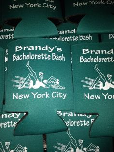 Lot 12 personalized bachelorette party coolie custom can party favor - Stock Art Available via Etsy