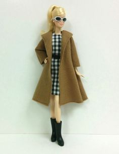 Brown Coat for Silkstone/Model Muse/ by SKSungDesigns on Etsy