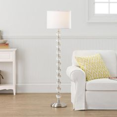 Stacked crystal floor lamp lamps pinterest floor lamp home stacked glass ball floor lamp mozeypictures Image collections