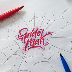 Brushpen Lettering Set Superheroes Edition — by David Milan, via Behance