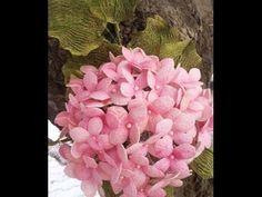İpek Kozası ile Ortanca Yapımı - Dekoratif Çiçek