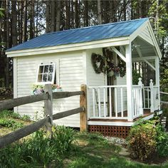 cute garden house / play house with a nice front porch