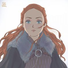 Sansa Stark, Game of Thrones Sansa Stark, Cersei Lannister, Geeks, Jon Snow, Arte Game Of Thrones, Hbo Got, Got Anime, Game Of Trones, Fanart