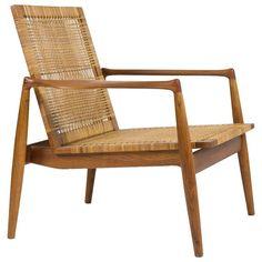 Finn Juhl SW-96 Teak and Cane Easy Chair for Soren Willadsen, circa 1954