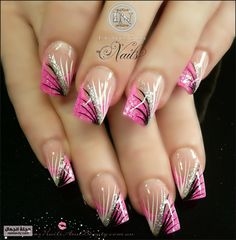 Luminous Nails and Beauty, Gold Coast Queensland. Acrylic & Gel Nails, Spray Tans. Sculptured Acrylic with Neon Pink, Miracle Collection 06,...