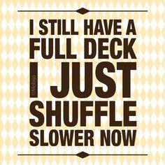 Old habits...