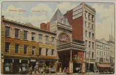 1900s Newark Theatre Vintage Postcard Marquee NEW JERSEY
