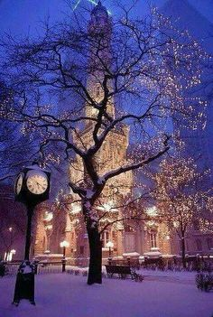 The Water Tower @ Christmas in Chicago