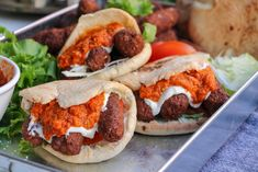 Veganska cevapi Veggie Recipes, Vegetarian Recipes, Veggie Food, Eating Well, Hamburger, Easy Meals, Beef, Baking, Ethnic Recipes