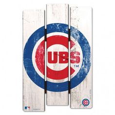 Chicago Cubs Wood Fence Sign More