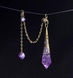 AAAAA Amethyst Crystal Pendulum
